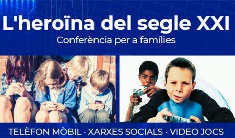 Cartell conferencia sobre addicio noves tecnologies Masip