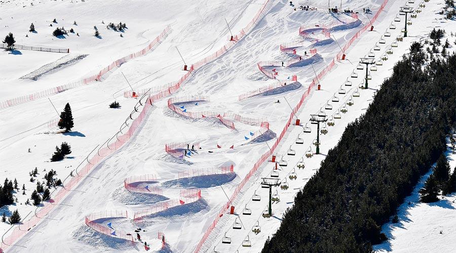 El circuit de la copa del món de snowboard paralímpic