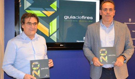 El vicepresident de Promeco, Carles Gibert, i el director, Ramon Boixadera, presenten la guia e fires 2020