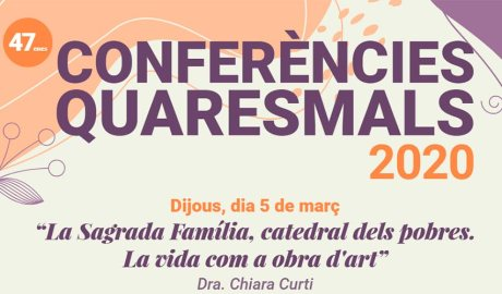 Part del cartell anunciant de les conferències quaresmals