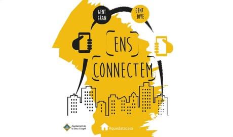 """cartell de """"ens connectem"""""""