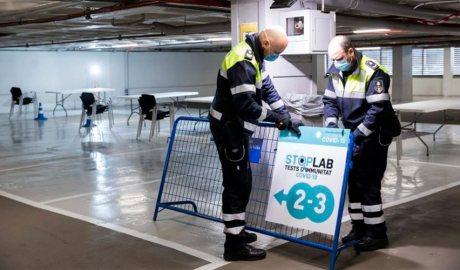 Agents de circulació preparen Stop Labs a Andorra la Vella