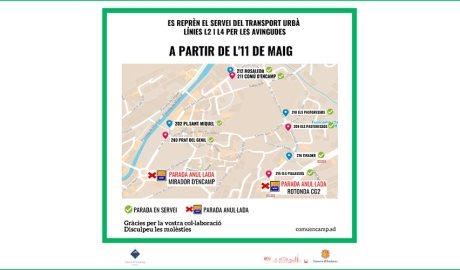 Mapa de com queda el nou itinerari de transport urbà