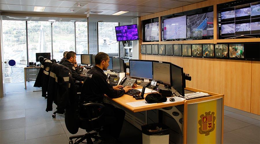 Centre de control de la Policia