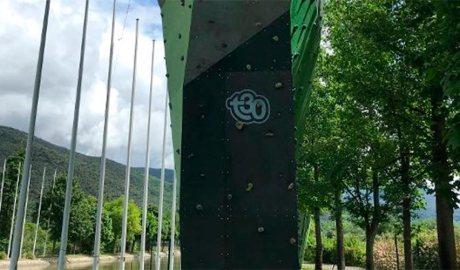 El Rocòdrom exterior del Rafting Parc de la Seu d'Urgell