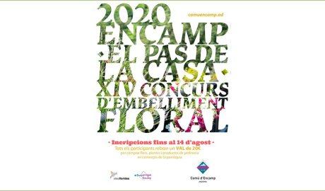Cartell del concurs d'embelliment floral d'Encamp