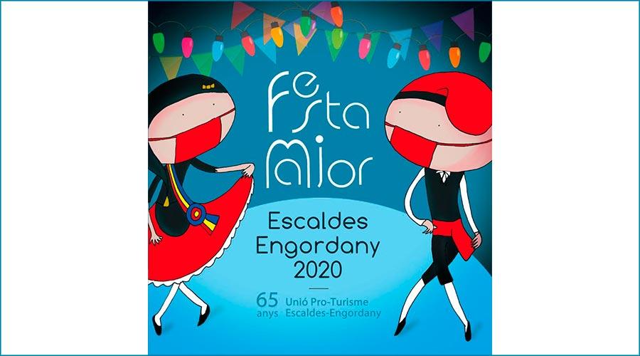 Cartell de la festa major d'Escaldes-Engordany 2020