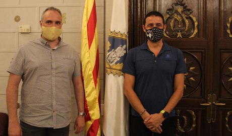 L'alcalde de la Seu Jordi Fàbrega amb el regidor Joan Llobera