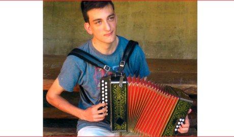 L'acordionista urgellenc Agustí Busquets