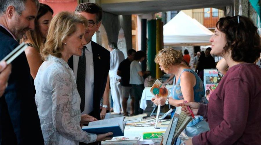 La consellera de Cultura, Mariàngela Vilallonga, a la Fira del Llibre del Pirineu 2019