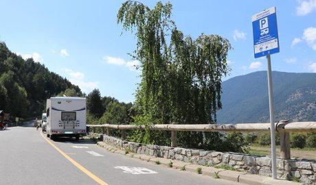 Zona destinada a l'aparcament d'autocaravanes a les Pardines d'Encamp