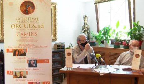 Ignacio Ribas i Mn Ramon Sàrries presenten el festival Orgue&nd
