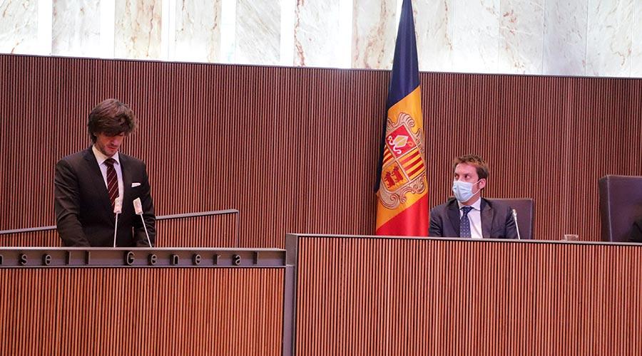 Carles Enseñat intervé en el Debat d'Orientació Política