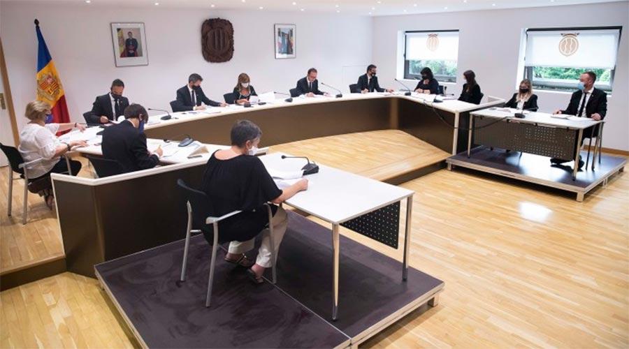 Sessió del Consell de Comú d'Andorra la Vella