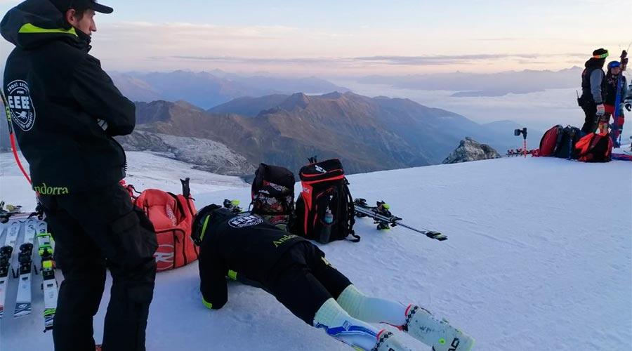 Membres del programa Esquí Escola Batxillerat Esportiu