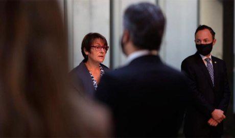 La síndica Roser Suñé pronuncia el seu discurs el dia de Meritxell del 2020