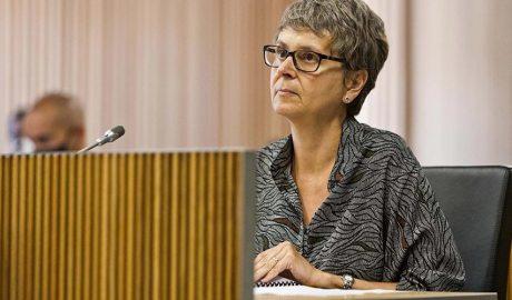 Susanna Vela en una comissió legislativa