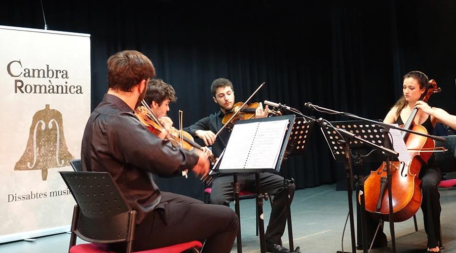 El Quartet Toldrà actuant en el cicle Cambra Romànica