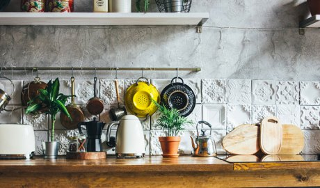 Elements d'una cuina rústica