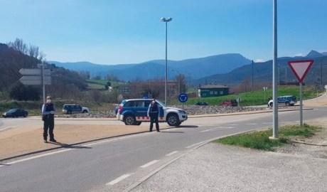 Control en una carretera catalana
