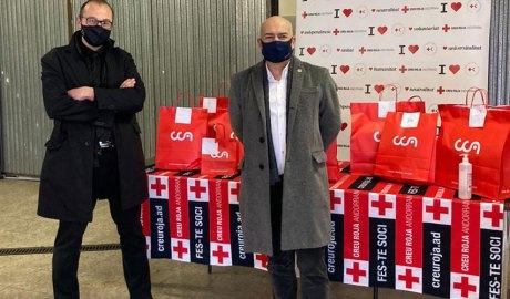 Josep Pol, president de Creu Roja Andorrana, i Francesc Compte, president de Rotary Club Andorra
