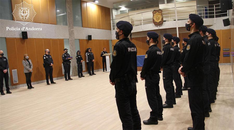 Cerimònia d'inauguració de la 55 promoció d'alumnes d'agent de policia