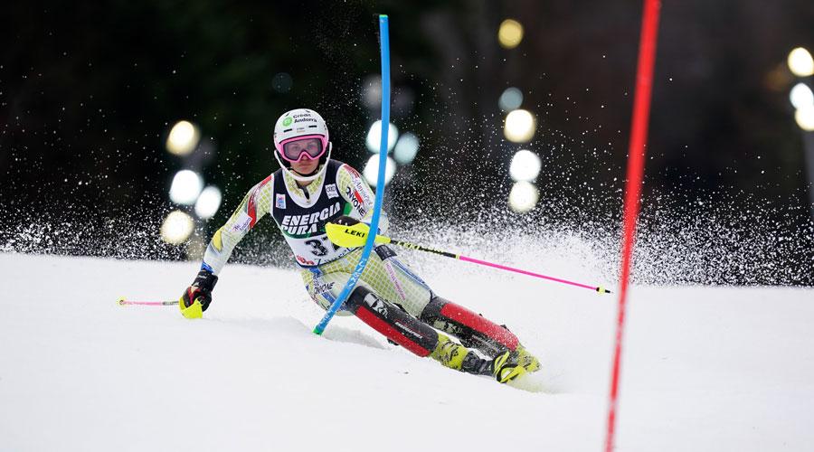 Gutiérrez esquiant a Zagreb