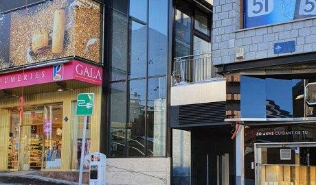 L'ascensor que connecta el carrer de les Abelletes i la plaça Coprínceps al Pas de la Casa