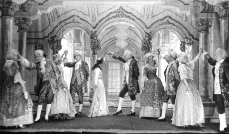 Representació de La Ventafocs a l'Orfeó Vigatà, l'any 1951