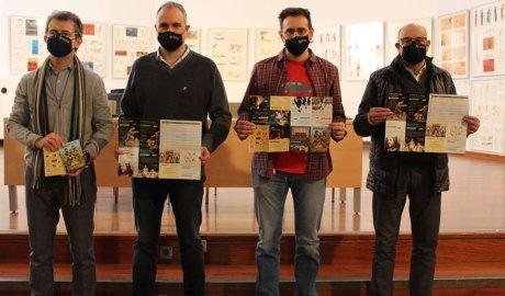 Albert Galindo, Jordi Fàbrega, Carlos Guàrdia i Andreu Campillo, en la presentació de l'Agenda Cultural Gener-Juny 2021 de la Seu d'Urgell.