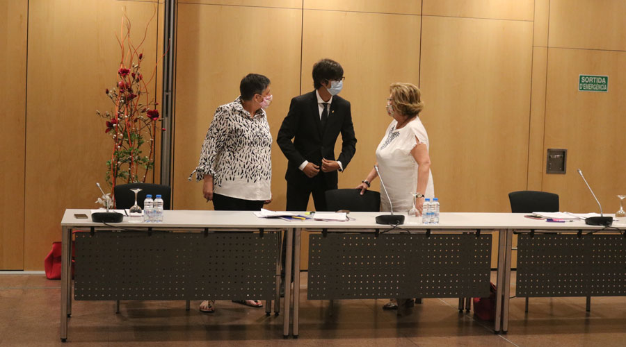 Samarra, González i Carmona en un Consell de Comú celebrat al Centre de Congressos d'Andorra la Vella