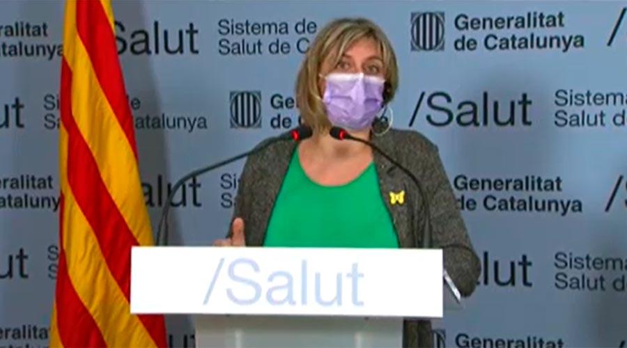 La consellera de Salut de la Generalitat Alba Vergés