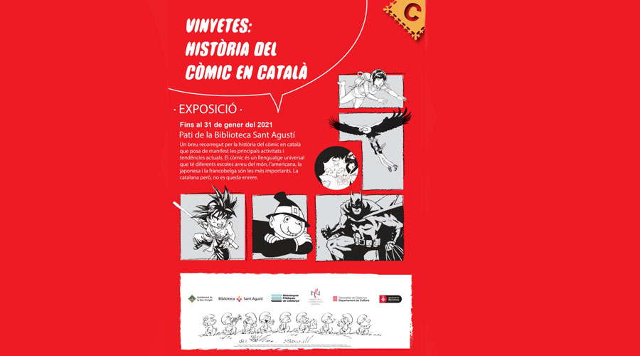 Cartell de l'exposició 'Vinyetes: història del còmic en català'