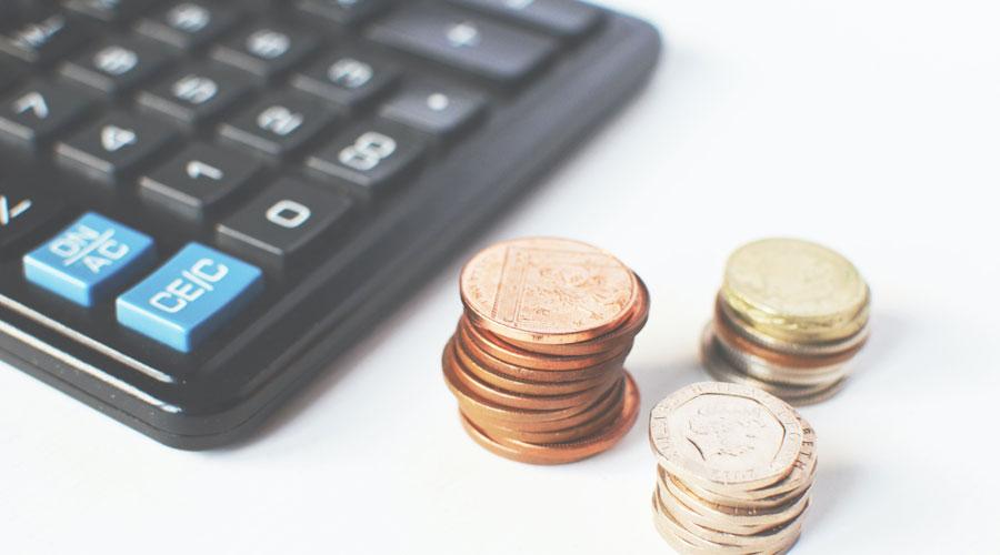 Una calculadora i monedes