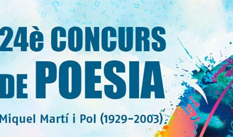 Publicitat del 24è Concurs de poesia Miquel Martí i Pol
