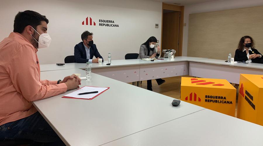 Baró i López a la reunió amb la cúpula d'ERC