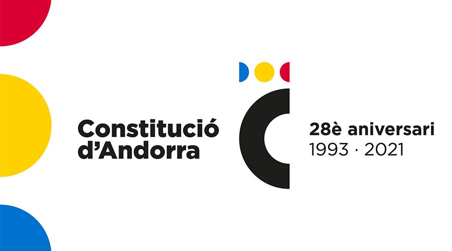 Cartell publicitari del 28è aniversari de la Constitució d'Andorra