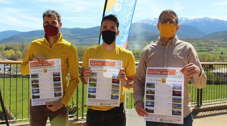Guillem Castellví, guia de muntanya, Albert de Gràcia, guia i president de l'associació, i David Vallvé, director del Servei d'Esports de l'Ajuntament de la Seu d'Urgell