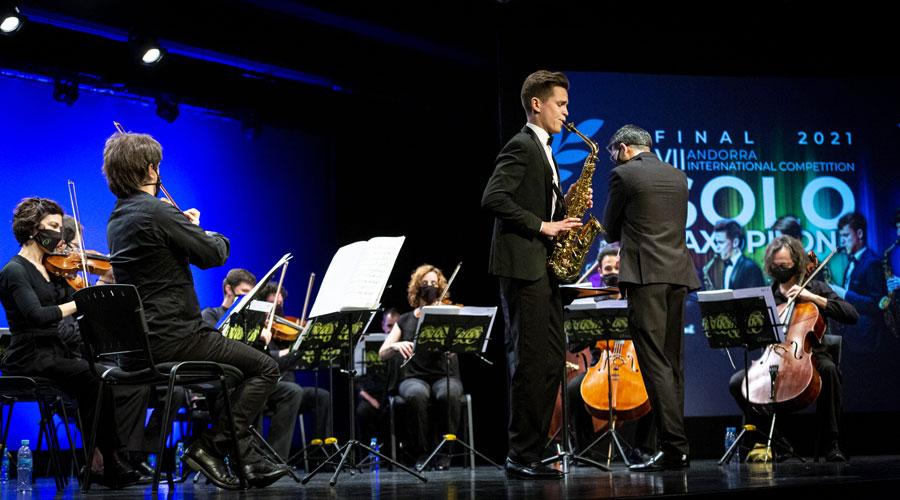 Mikhail Kazakov al concurs de l'Andorra Sax Fest