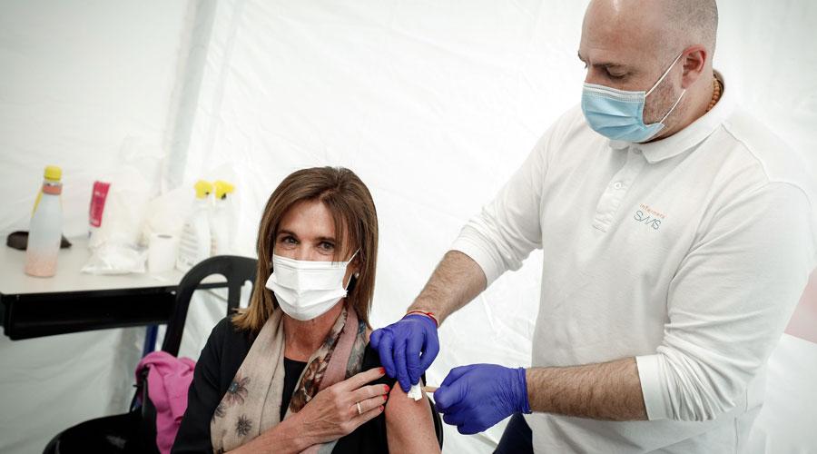 Vilarrubla rebent la vacuna de Covid-19
