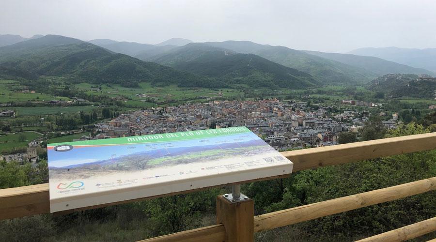 La Seu d'Urgell vista des del Mirador de les Forques