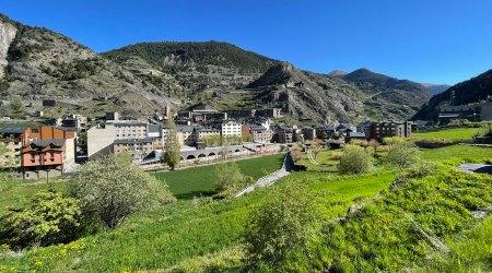 Vista del poble de Canillo