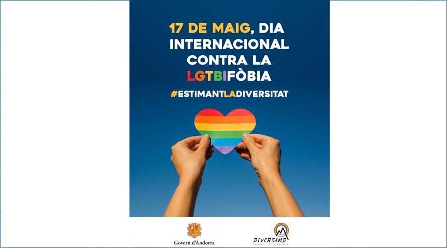 Cartell del dia internacional contra la LGTBIfòbia