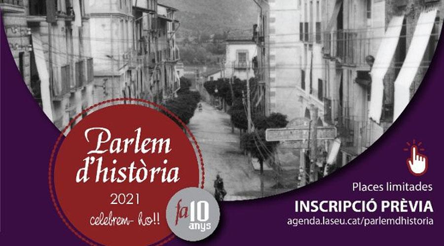 Part del cartell de la 10a edició del Parlem d'Història