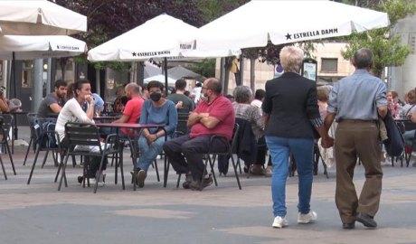 Una terrassa de bar en alguna localitat catalana