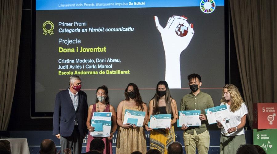 Lliurament del premi Blanquerna Impulsa a l'Escola Andorrana de Batxillerat