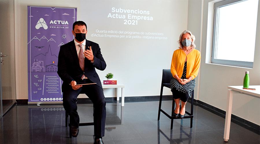 Acte d'atorgament de les subvencions Andorra Business 2021