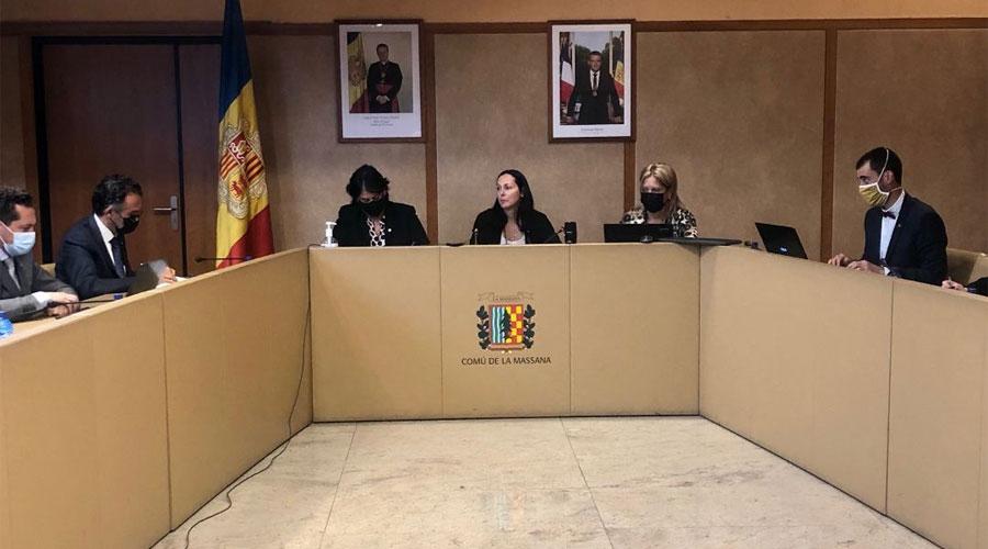 Una sessió del Consell de Comú de la Massana