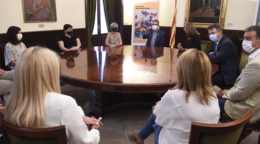 Reunió dels quatre presidents de diputacions catalanes amb representants dels grups polítics de la Diputació de Lleida