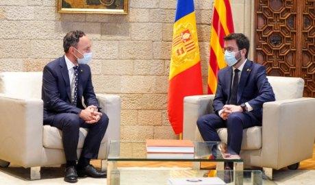 Espot i Aragonès al Palau de la Generalitat